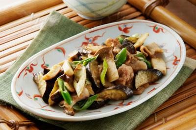 豚肉とエリンギのお惣菜風味噌炒め出来上がり図