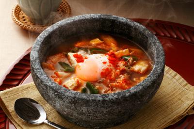 韓国味噌汁テンジャンチゲ出来上がり図