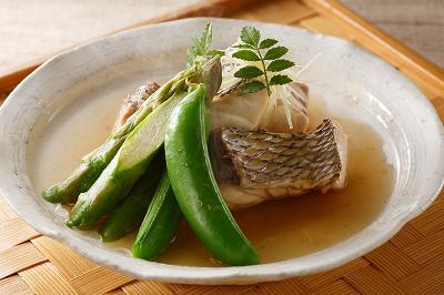 鯛と旬野菜のさっと煮出来上がり図